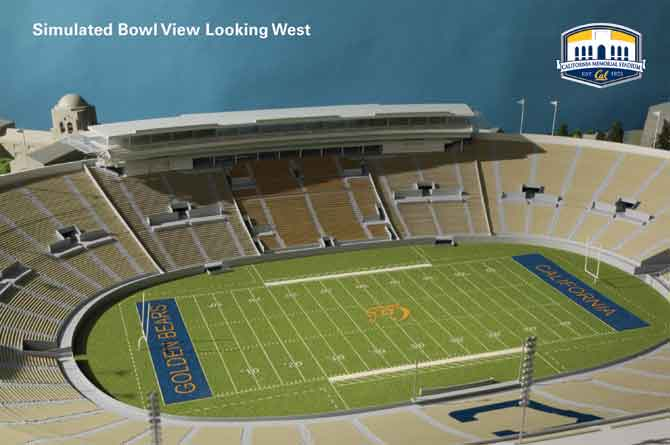 Simulation of the final look of Memorial Stadium.