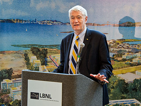 Chancellor Birgeneau at LBNL press conference
