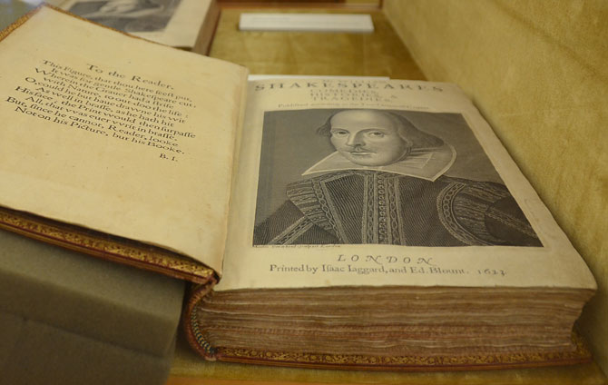 Shakespeare first folio 1623