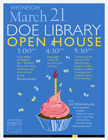 Doe Centennial celebration poster