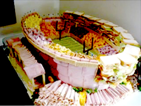 stadium made of finger food