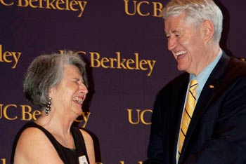 Chancellor Birgeneau with honoree Gail Kaufman