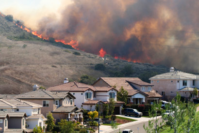 Southern California wildfire.