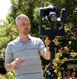 Michael Ashley with gigapan camera setup