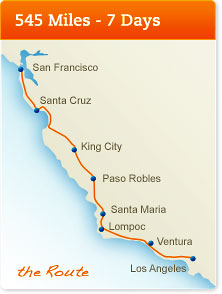 AIDS LifeCycle route