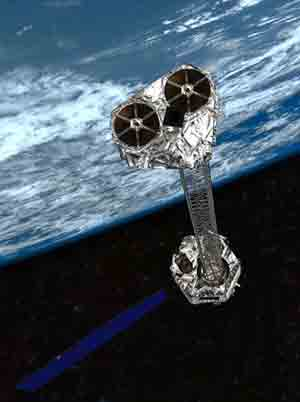 NuSTAR orbiting Earth.
