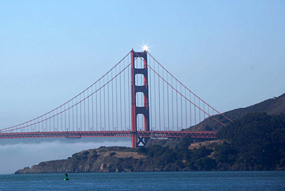 Solar Beacon will bejewel Golden Gate Bridge through September