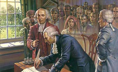 Founders signing the Constitution
