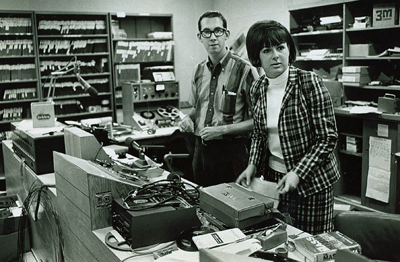 KALX newsroom in 1967