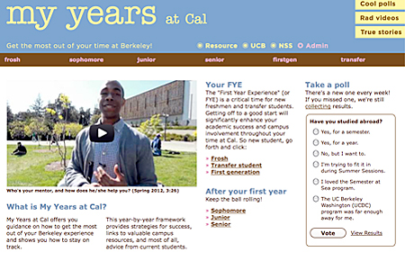 My Years at Cal home page