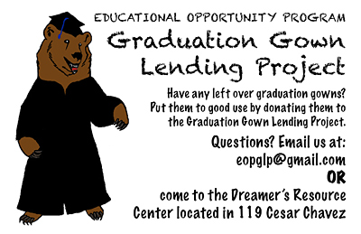 Graduation Gown Lending Project flyer