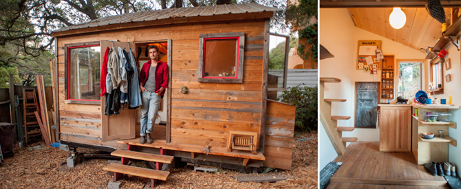 Matt Wolpe's tiny house and its kitchen