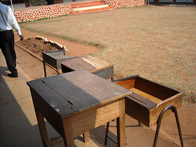 Desks at Likuni Girls School
