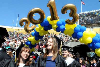 At Convocation 2013, Apple co-founder hails Berkeley's 'human values'