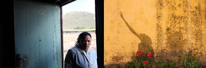 Two photographs of farm women in South Africa by Molly Oleson